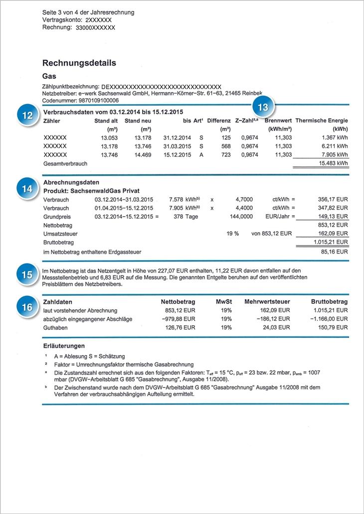 e-werk Sachsenwald - Rechnungserklärung